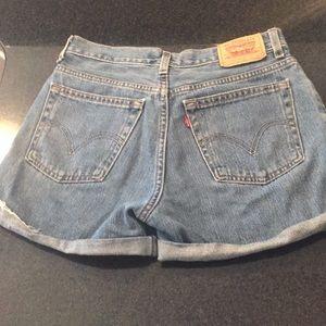 Levi's 550 cutoff jean shorts high waist vintage